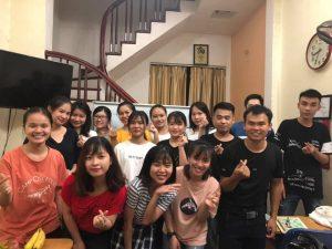 Giờ học thực hành với giáo viên Trung Quốc của trung tâm ngoại ngữ Gia Hân