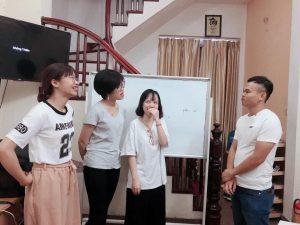 Giờ học luyện thanh với giáo viên Trung Quốc